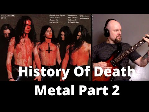 History Of Death Metal On Guitar Part 2 - 1991-1995