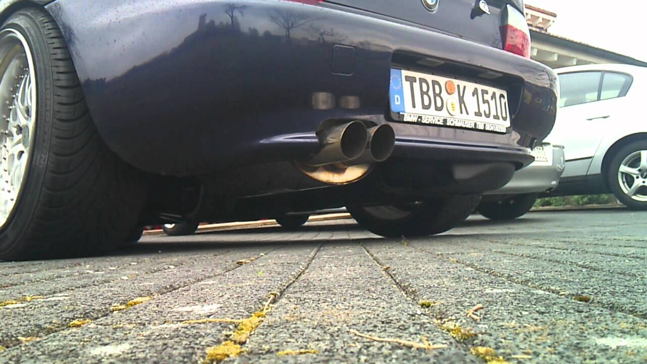 Bmw Z3 2 8 M52 Bastuck Exhaust Sound Youtube