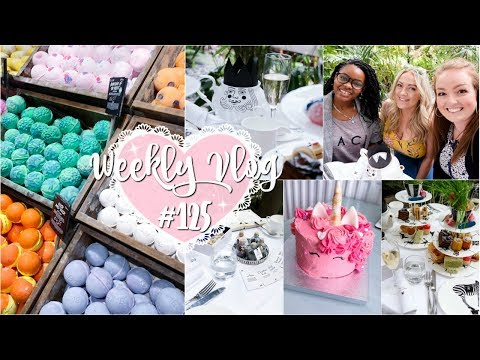 Weekly Vlog #125 | Afternoon Tea & Girls Day Out | MoreOfLucy.