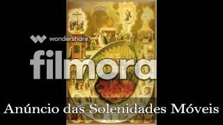 Anúncio das Solenidade Móveis (melodia e cifras)