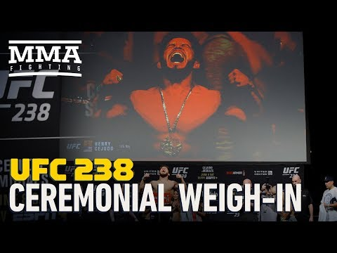 UFC 238 Ceremonial Weigh-In Highlights - MMA Fighting