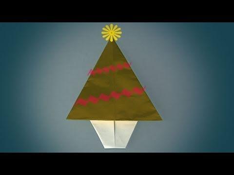 Un arbre de noel comment faire origami youtube - Arbre de noel origami ...