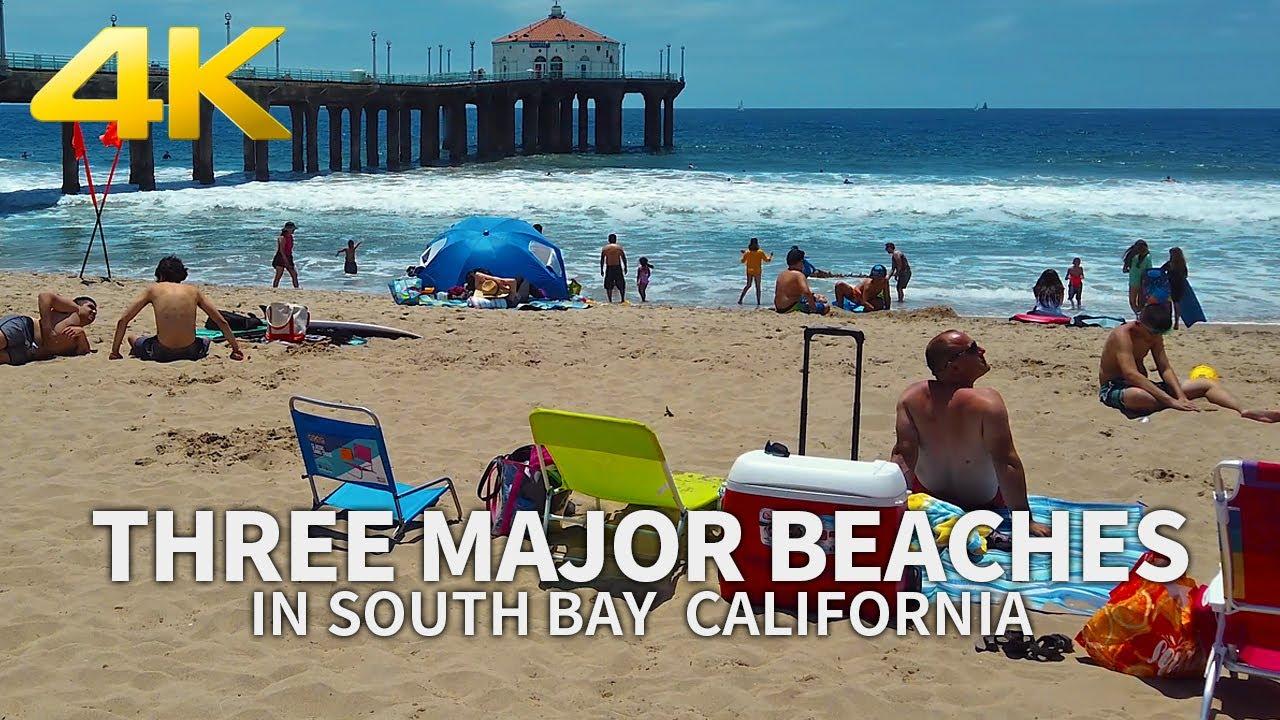 (Full Version) Three Major Beaches (Redondo, Hermosa, Manhattan) in South Bay, California, USA, 4K