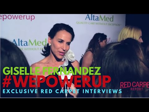 Giselle Fernandez #BigShots interviewed at AltaMed's Power Up Gala #WePowerUp #WeAskMore