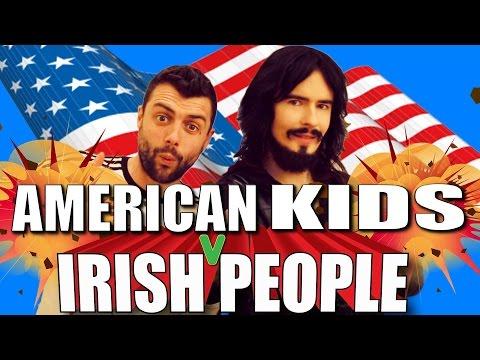 American Kids Take Over Irish People's YouTube Channels!!