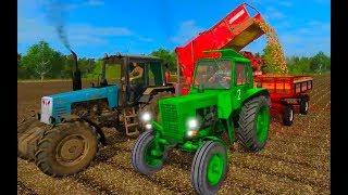 Farming Simulator 2017. Нестеровка. Трактор Беларус МТЗ 80. Прицеп 2ПТС4.