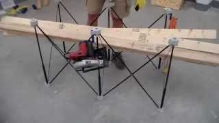Dumping 6 2x4s On A Centipede Sawhorse