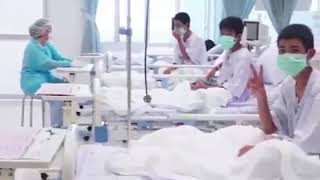 First video emerges of Thai soccer team recovering in hospital