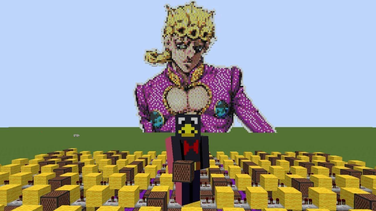 I made Giorno's Theme using Minecraft Note Blocks