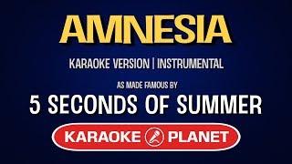 Amnesia - 5 Seconds Of Summer | Karaoke LYRICS Mp3