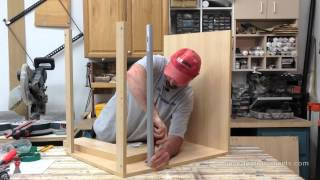 Shannon from http://www.house-improvements.com/forums/ shows you how to assemble a typical base cabinet sold by big box