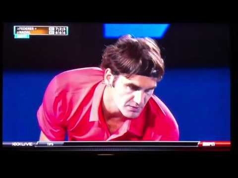 Ballboy Hand Quickly Catch The Ball During Federer-Nadal Match Trees Reddit.FLV