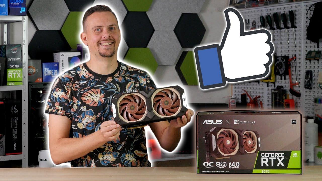 Järjettömän HYVÄ jäähdytys! Testissä Asus GeForce RTX 3070 Noctua Edition