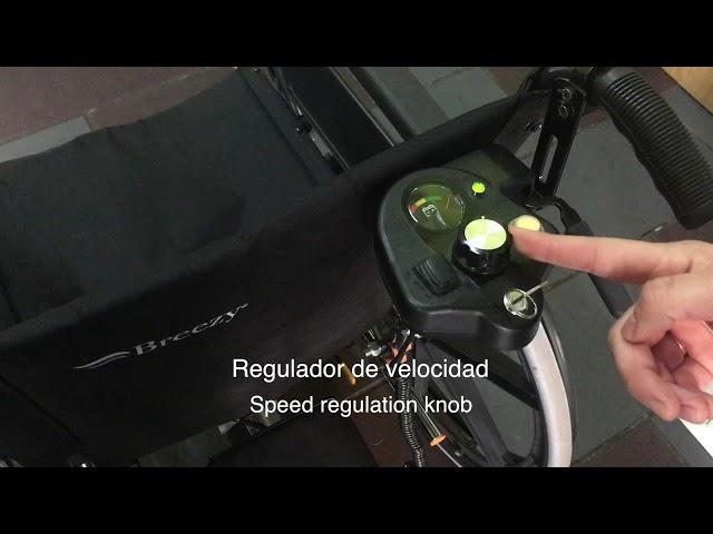 Breezy Premium + Power Pack Silla de Ruedas Plegable autopropulsable para alquilar