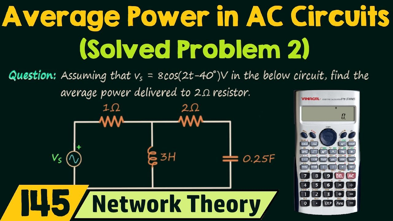 Average Power In Ac Circuits  Solved Problem 2