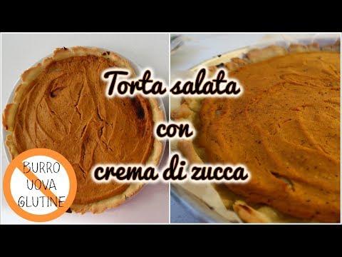 TORTA SALATA DI PASTA BRISÈ CON CREMA DI ZUCCA   SENZA BURRO, UOVA E GLUTINE