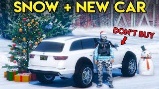 GTA Online - SNOW IS RELEASED, NEW CAR REVIEW + MORE FREE STUFF!