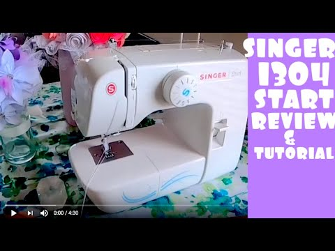 Singer 1304 Start Essential Sewing Machine Review and tutorial for first time beginners! #sew