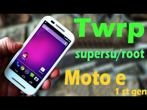 "How to install  TWRP &""ROOT"" moto e 1st gen [4k]"