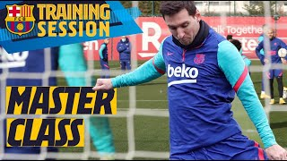🔥 MESSI is RELENTLESS in training match 🥅