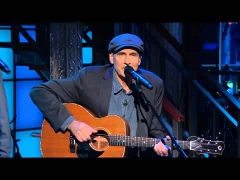 Fire and Rain and more, by James Taylor and Stephen Colbert on The Late Show