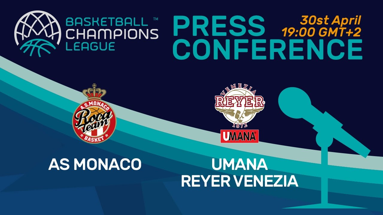 AS Monaco v Umana Reyer Venezia - 3rd Place - Press Conference