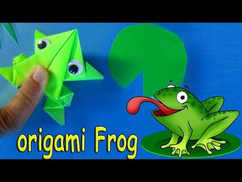 Origami jumping frog : How to make a paper frog that jumps high and far 🐸 Easy tutorial