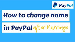 How to change name in Paypal