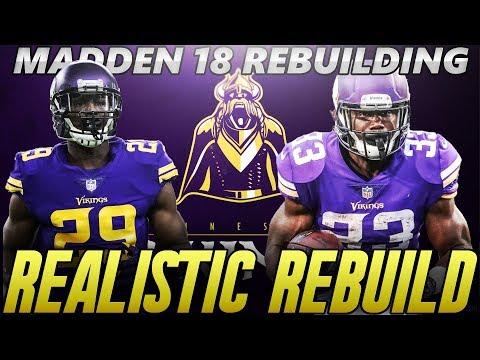 Madden 18 Connected Franchise | Minnesota Vikings Realistic Rebuild | 3 Starting Quarterbacks