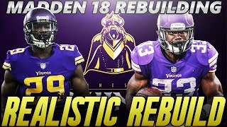 Madden 18 Connected Franchise | Minnesota Vikings Realistic Rebuild | 3 Starting Quarterbacks 2017 Video