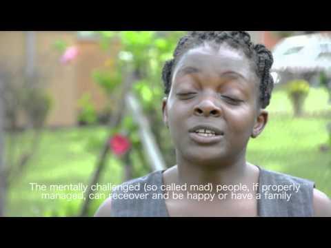 Rachael Kisakye talking mental health in Uganda