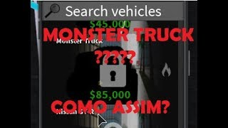 Monster truck no vehicle simulator? - Roblox