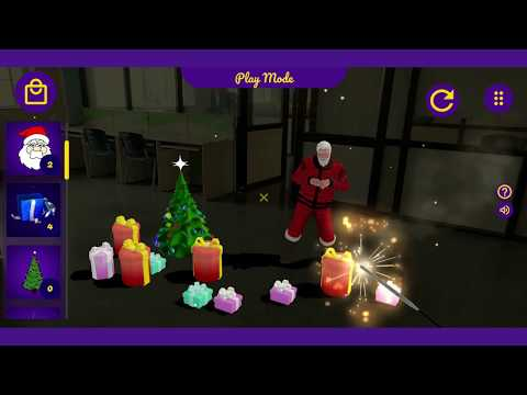 Fireworks AR Christmas Edition:  Santa Claus in Augmented Reality (AR)