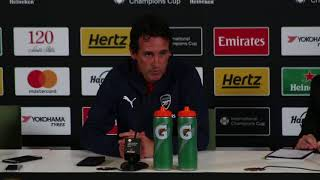 Arsenal v Chelsea in Dublin: Arsenal manager Unai Emery full press conference