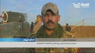 تقدم القوات العراقية في بعض الأحياء على المحور الشرقي للموصل