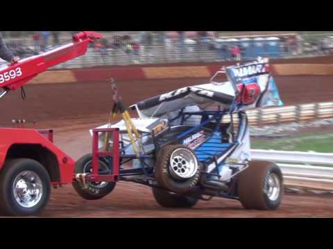 Lincoln Speedway 410 and 358 Sprint Car Highlights 5-07-16