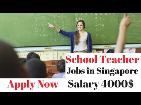 Singapore Jobs School Teacher , Computer Operator , Clerk Jobs Apply Now