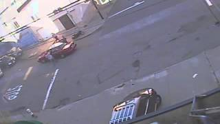 Hot pursuit and getaway fail in Potrero Hill, today...