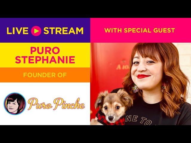 Special Guest Puro Stephanie was a bit nervous around our animals! 😂 Puro Pinche!