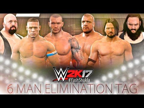 WWE 2K17 John Cena Randy Orton Big Show vs Triple H AJ Styles Braun Strowman