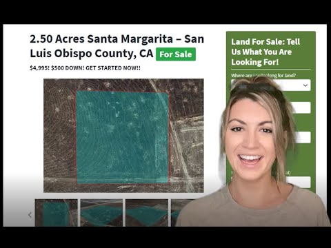 2.50 Acres Land For Sale Santa Margarita - Property for Sale in San Luis Obispo County, California