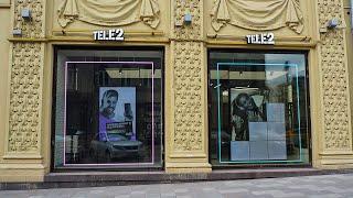 """Видеоэкран для сети магазинов """"Tele2"""", ул. Тверская, 25/7, г.Москва, Р2.9"""