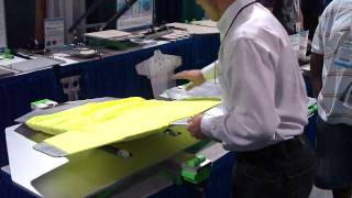 all over wrap around screen printing pallets demo from action engineering iss long beach 2009 hd