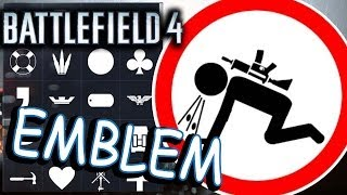 Battlefield 4 EMBLEMS. Hardline.  Noob in action 2!