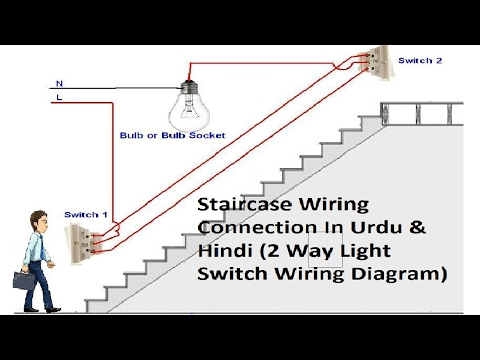2 way light switch wiring || staircase wiring connections || in urdu &  hindi - youtube