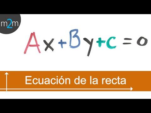 Ecuación general de la recta