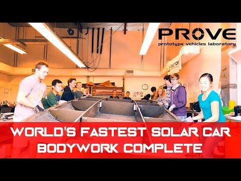 PROVE Lab Solar Car Fall 2017 - Bodywork Complete!