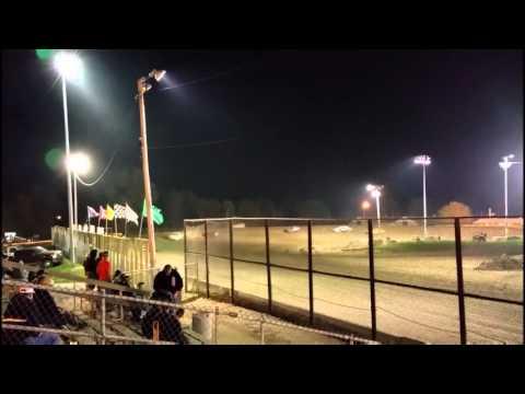 9-25-15 Jim Beasley Track Cam Kankakee Speedway Sport Compact Heat Race