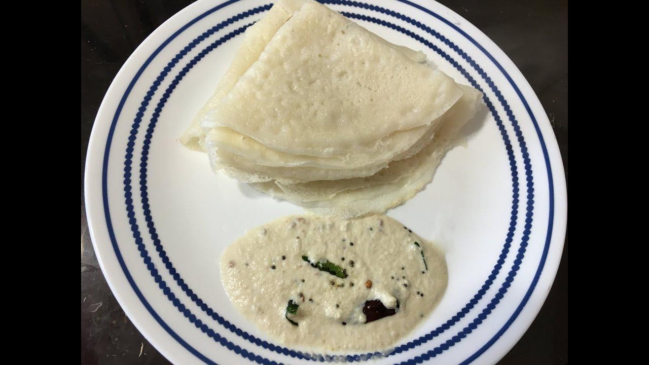 karnataka Style Neer Dosa in telugu - By Sritha\'s Kitchen - YouTube