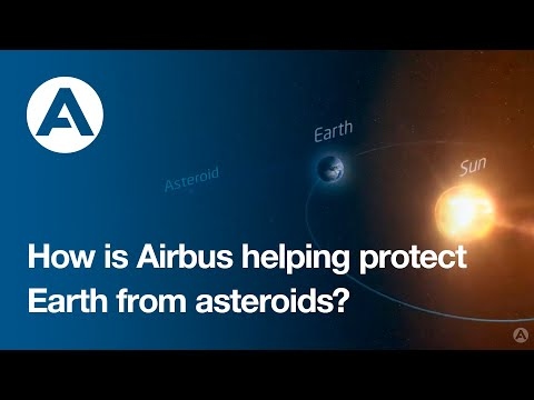 How is Airbus helping protect Earth from asteroids?